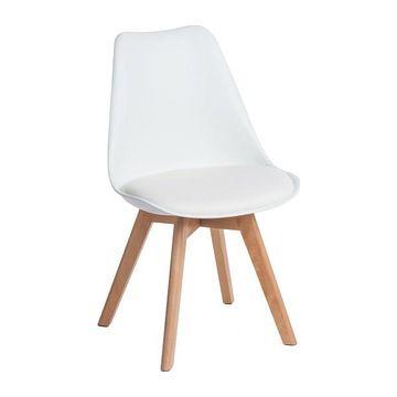 Krzesło NORDEN CROSS PP biały przodem