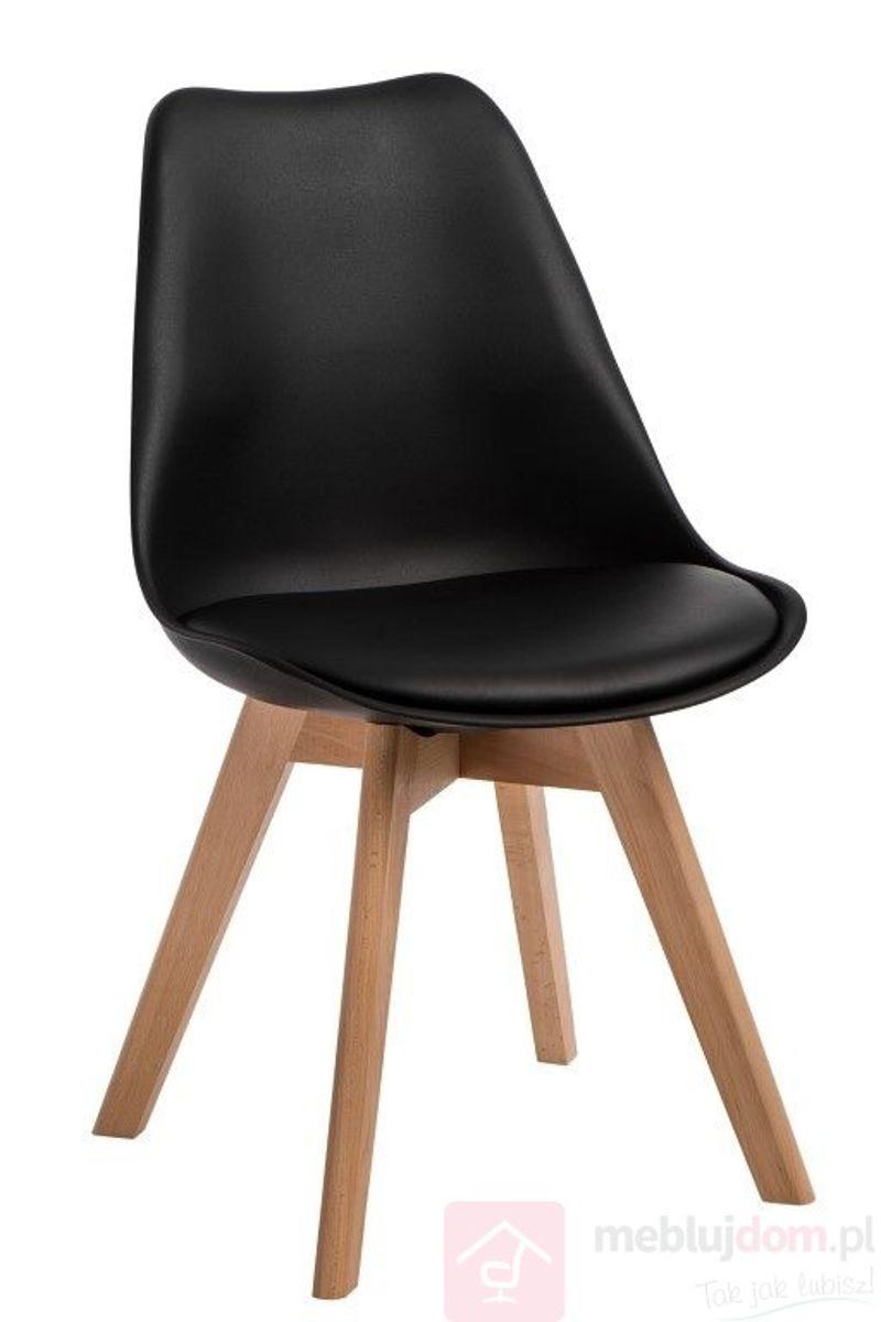 Krzesło NORDEN CROSS PP czarny bukowe nóżki