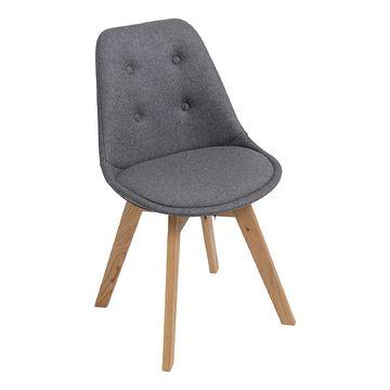Krzesło NORDEN CROSS TAP szare wełna