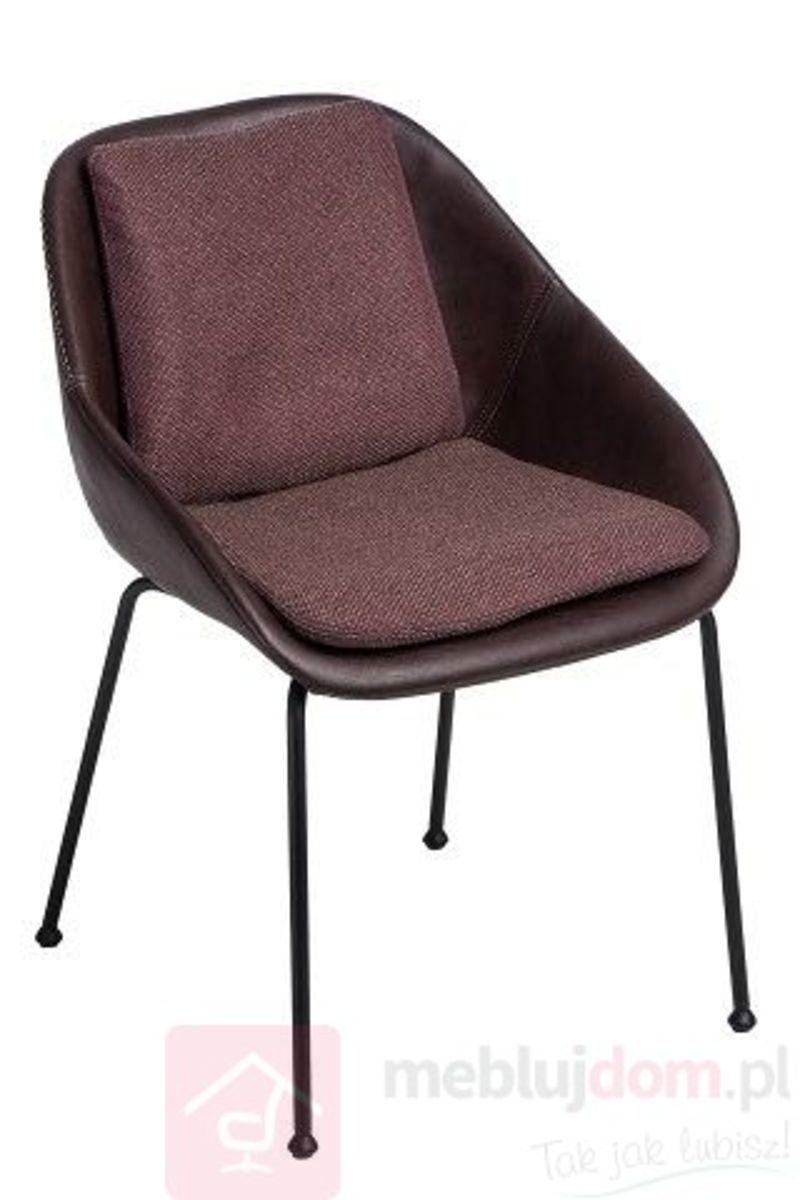 Krzesło POTER SOFT M ciemny brązowy tworzywo i melanż