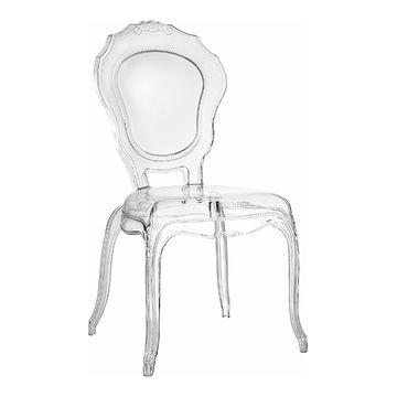 Krzesło transparentne QUEEN tworzywo