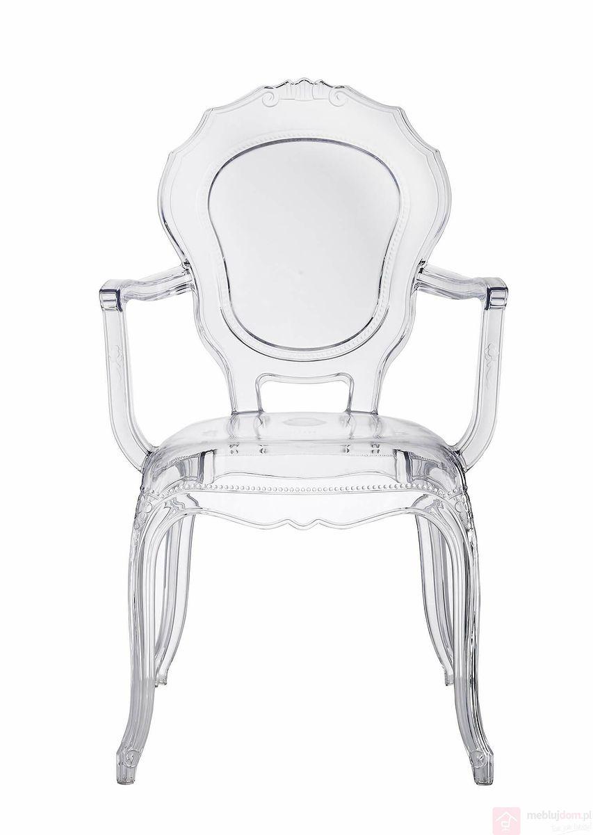 Krzesło transparentne QUEEN ARMS przodem