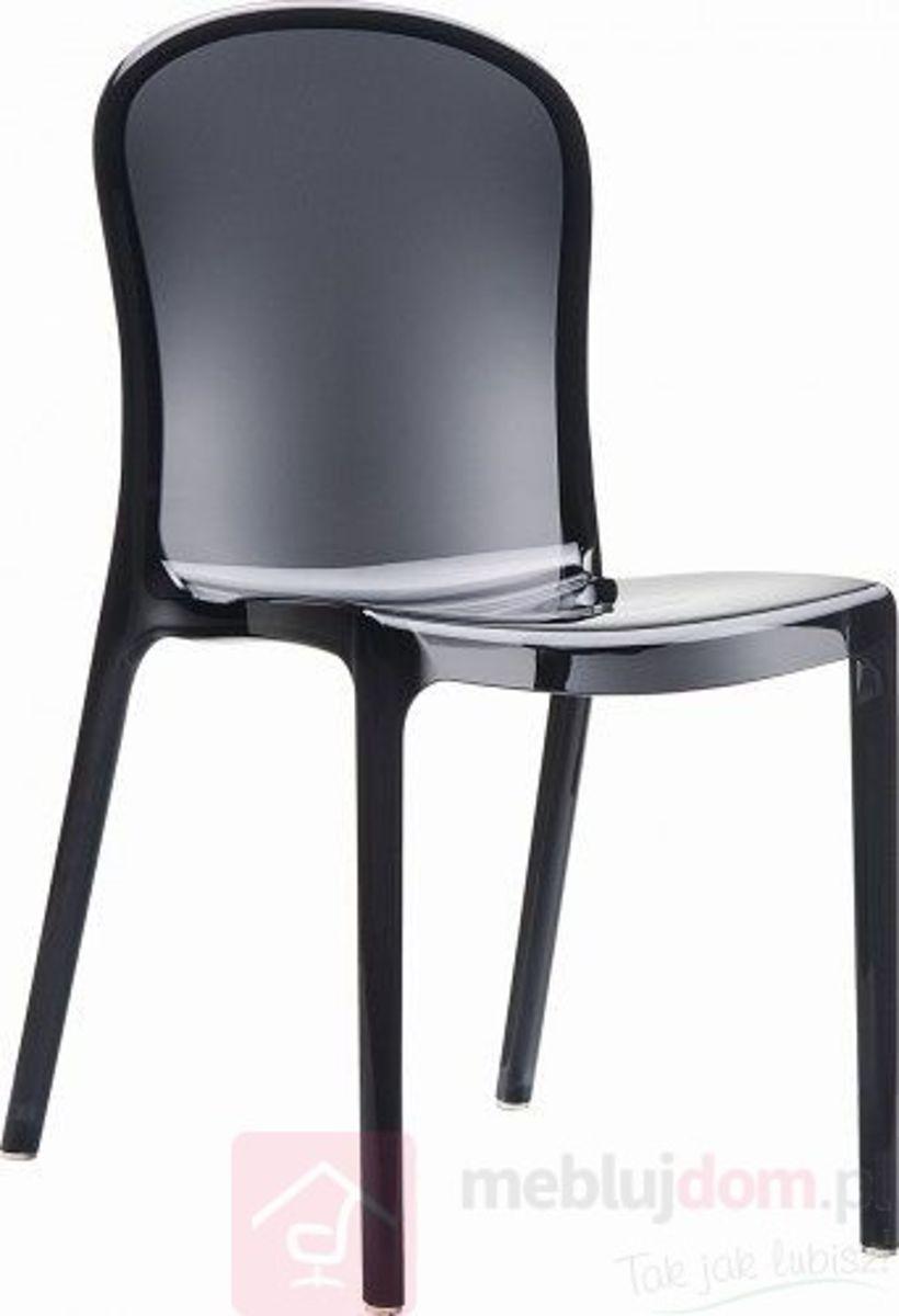 Krzesło UMA BLACK z tworzywa sztucznego