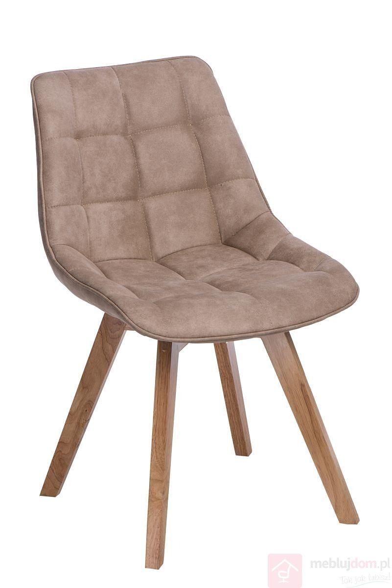 Krzesło tapicerowane WOODY beżowe