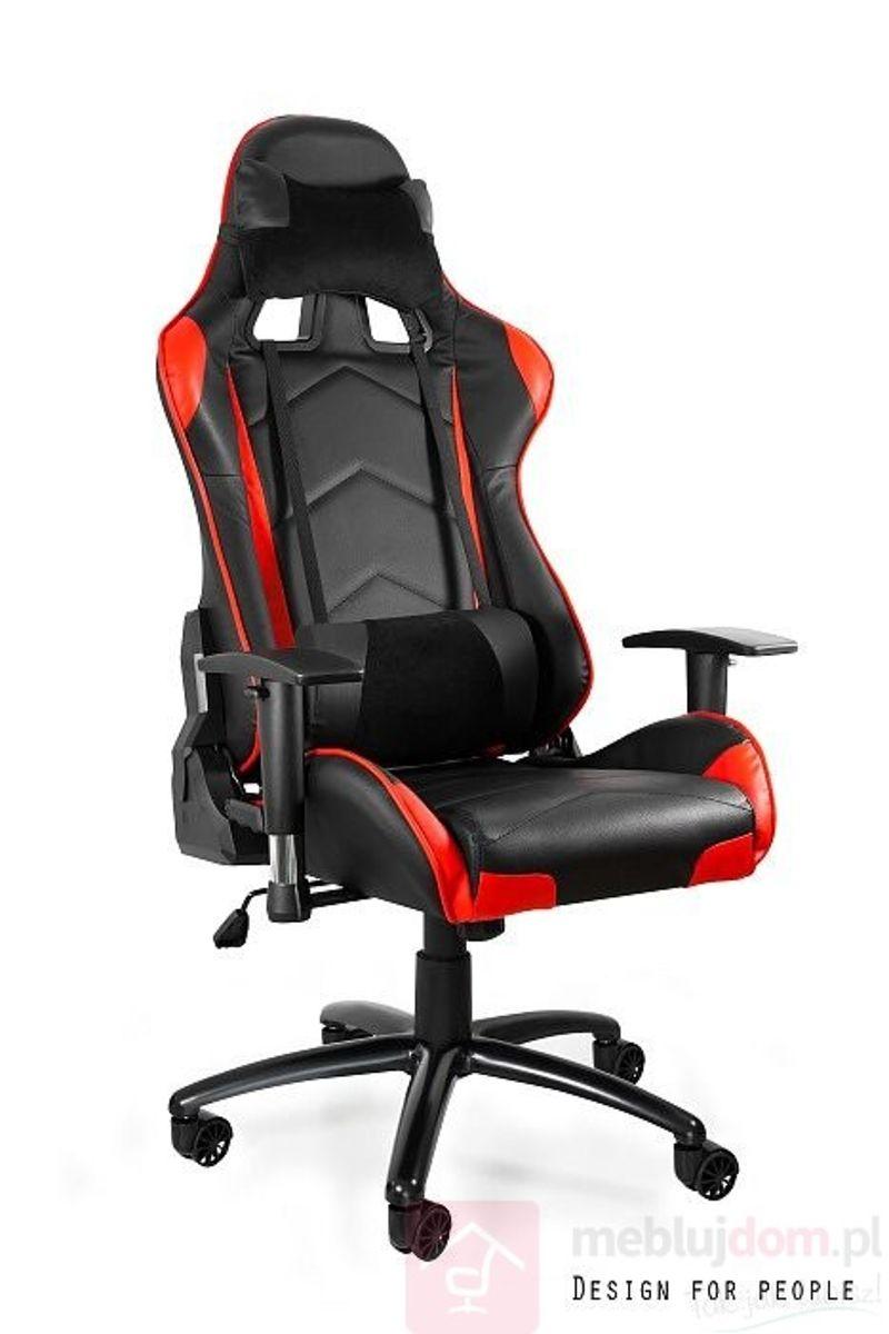 Fotel gamingowy DYNAMIQ V5 czarno-czerwony