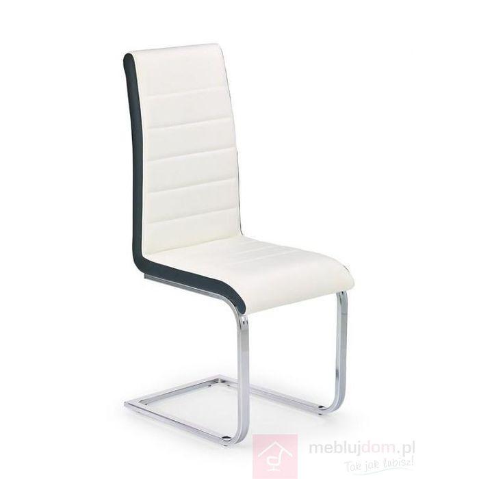 Krzesło K-132 Halmar Czarno-biały