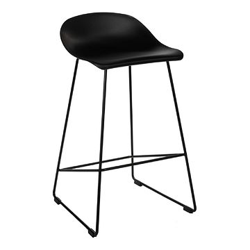 Hoker MOLLY LOW czarny siedzisko tworzywo stelaż metal z przodu