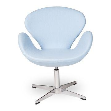 Fotel obrotowy SWAN błękitny + chrom