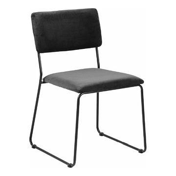 Krzesło CORNELIA antracyt pokazany z ukosa
