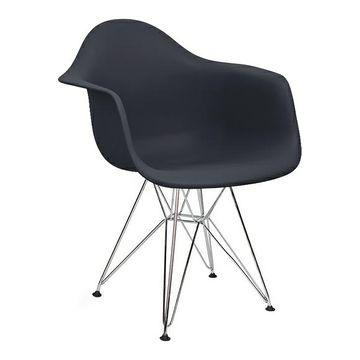 Krzesło DAR antracytowy (ciemny szary) / chrom