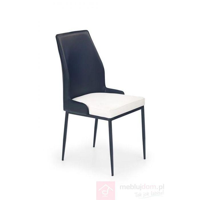 Krzesło K-199 Halmar Czarno-biały