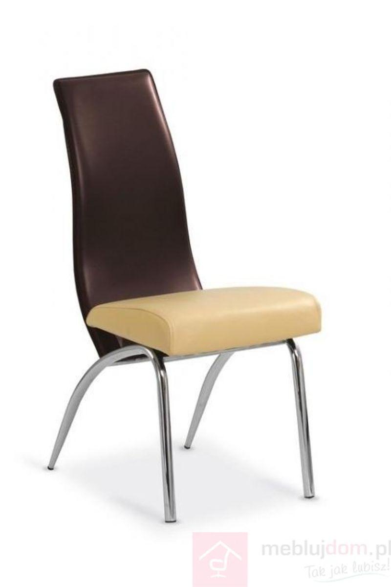 Krzesło K-2 Halmar Brązowy + beżowy