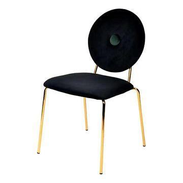Krzesło BAROCCO velvet czarny