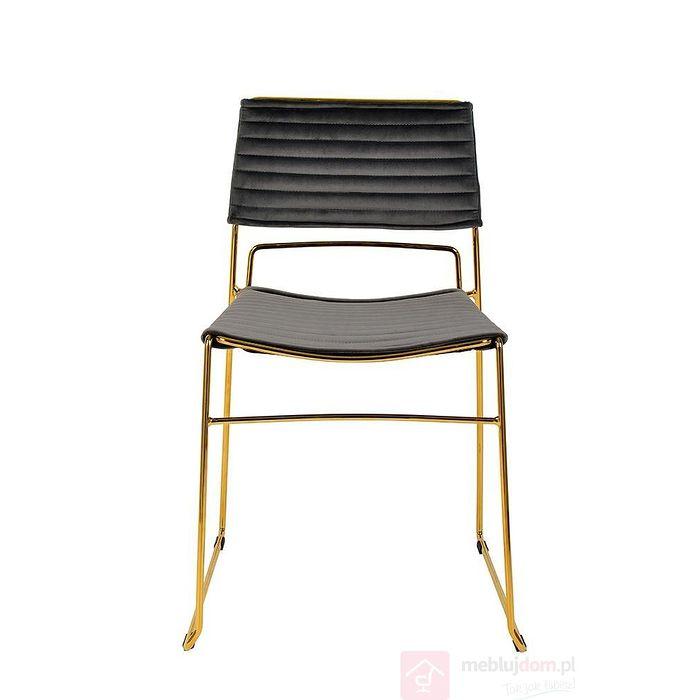 Krzesło JULIUS szary frontem