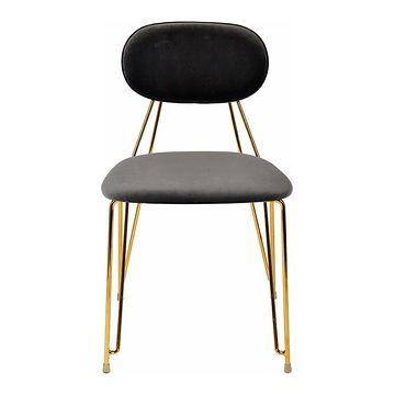 Krzesło MOLY ciemny szary frontem