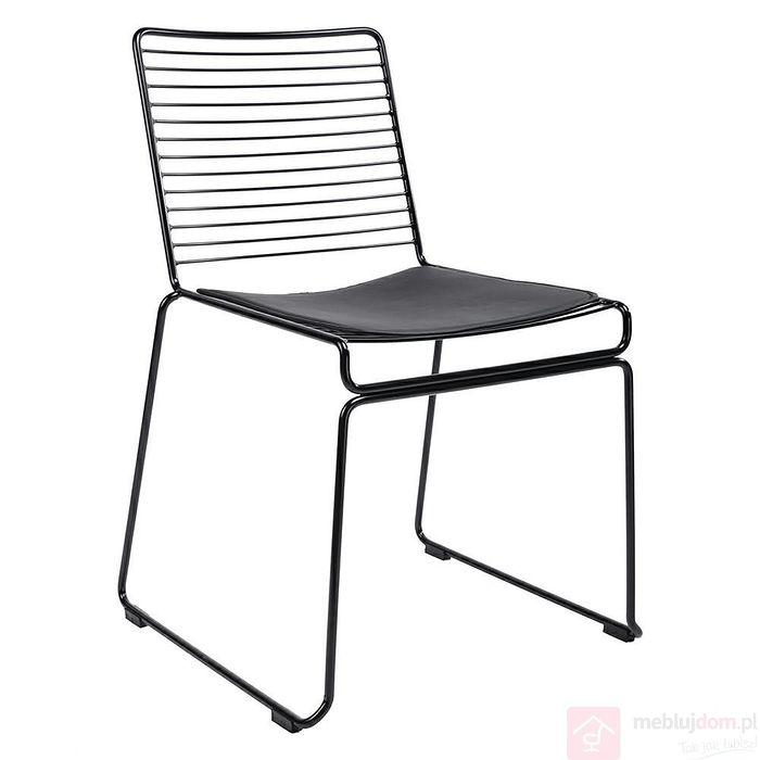 Krzesło ROD SOFT czarny, poduszka ekoskóra