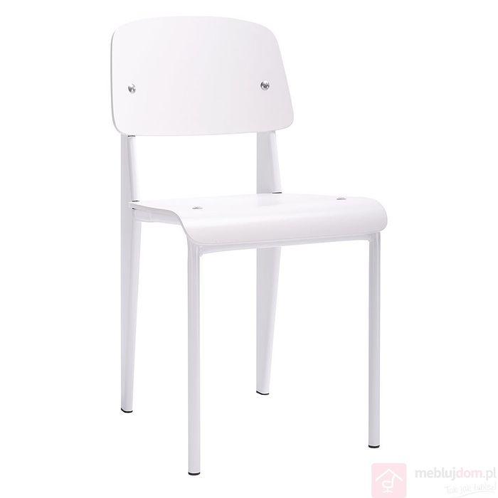 Krzesło SCHOOL białe przodem