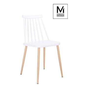 MODESTO krzesło RIBS biały / buk