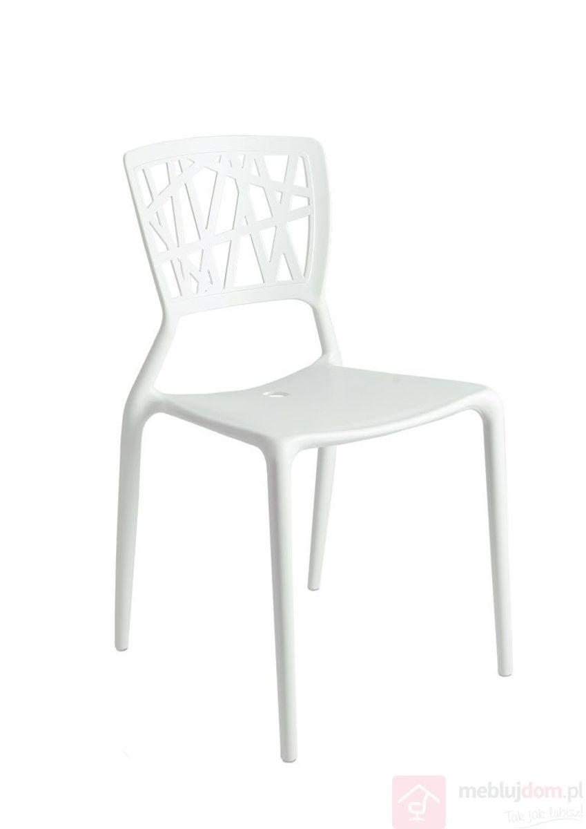 Krzesło BUSH biały przód
