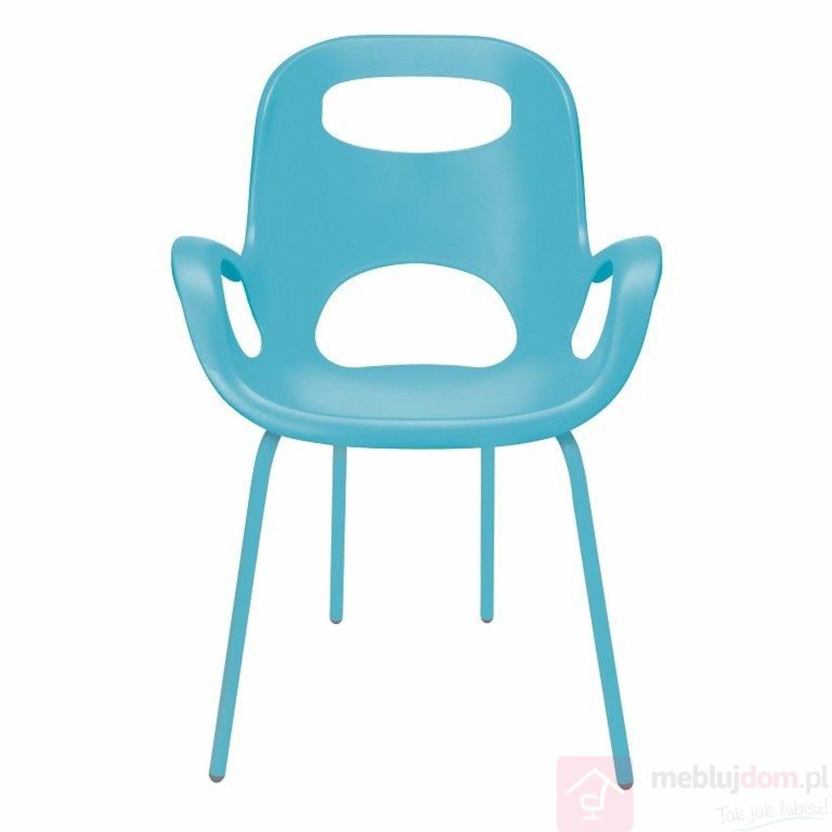 Krzesło OH UMBRA niebieski frontalnie