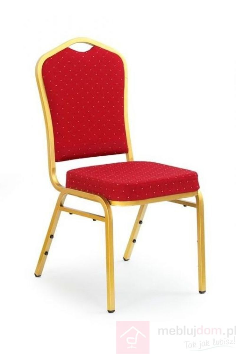 Krzesło K-66 Halmar Bordowy, Złoty