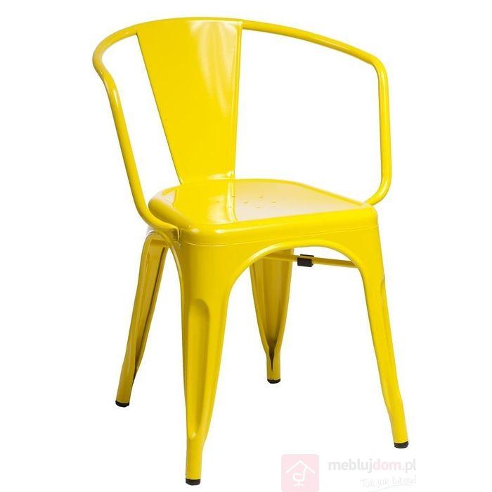 Krzesło PARIS ARMS żółte przodem