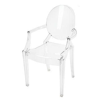 Krzesło ROYAL transparentny przód
