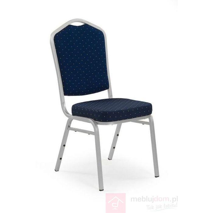 Krzesło K-66S Halmar Niebieski, Srebrny