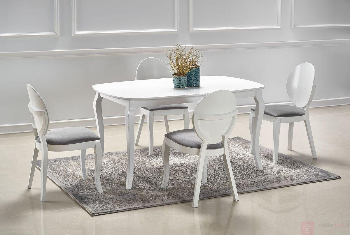 Stół rozkładany ALEXANDER Halmar złożony z krzesłami VERDI
