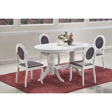Stół rozkładany JOSEPH Halmar złożony z krzesłami BAROCK