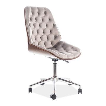 Fotel gabinetowy ARIZONA Velvet Signal z pikowaniami