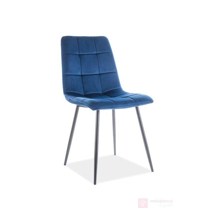 Krzesło MILA VELVET Signal granatowy