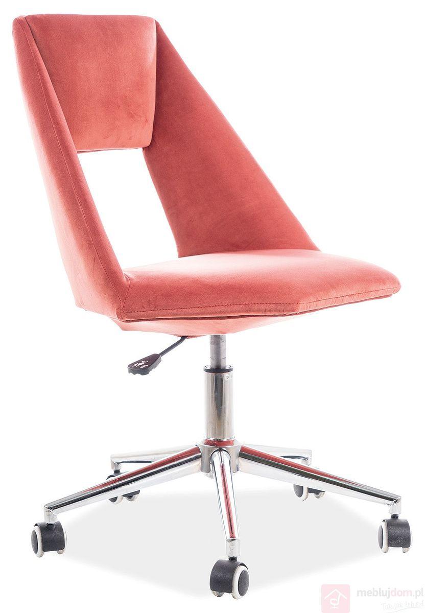 Fotel gabinetowy PAX Velvet Signal róż