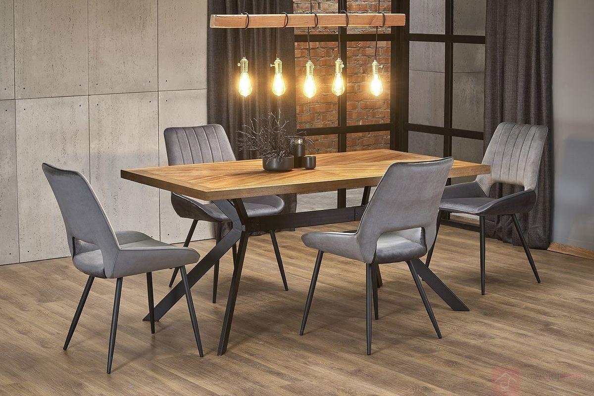 Stół TYSON Halmar aranżacja z krzesłami K404