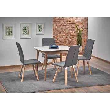 Stół rozkładany BARRET Halmar złożony w aranżacji z krzesłami K282