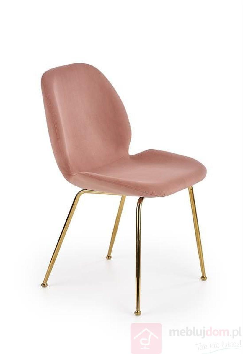 Krzesło K-381 Halmar antyczny róż velvet