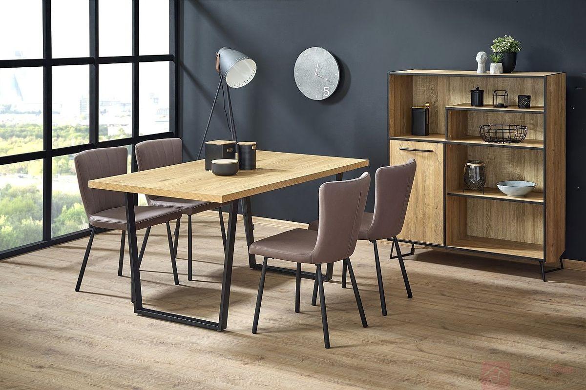 Stół ULRICH Halmar aranżacja z krzesłami K380