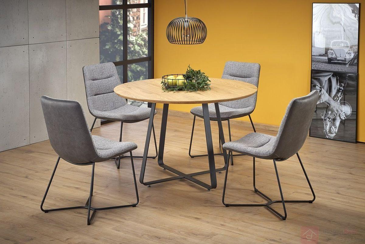 Stół LOOPER 2 Halmar aranżacja z krzesłami K403