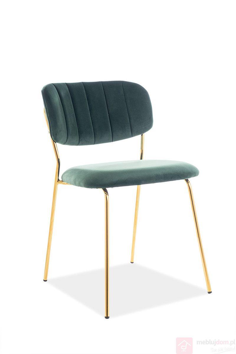 Krzesło CARLO Velvet Signal zielony, tap.153