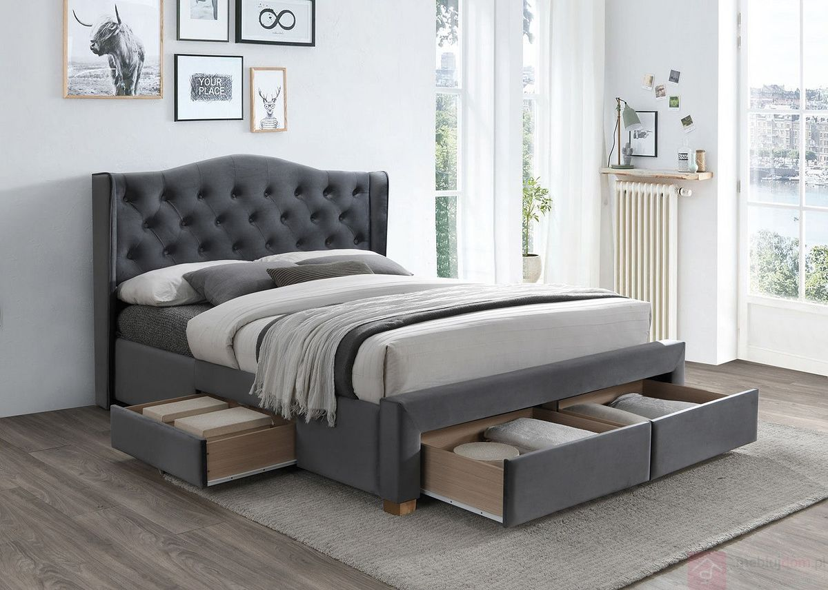 Łóżko ASPEN II VELVET Signal