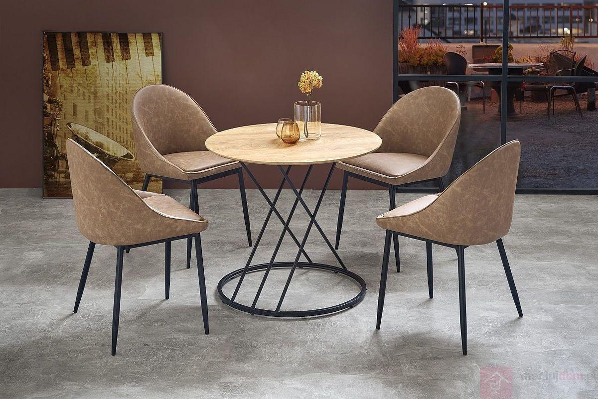 Stół SVEN Halmar aranżacja z krzesłami K406