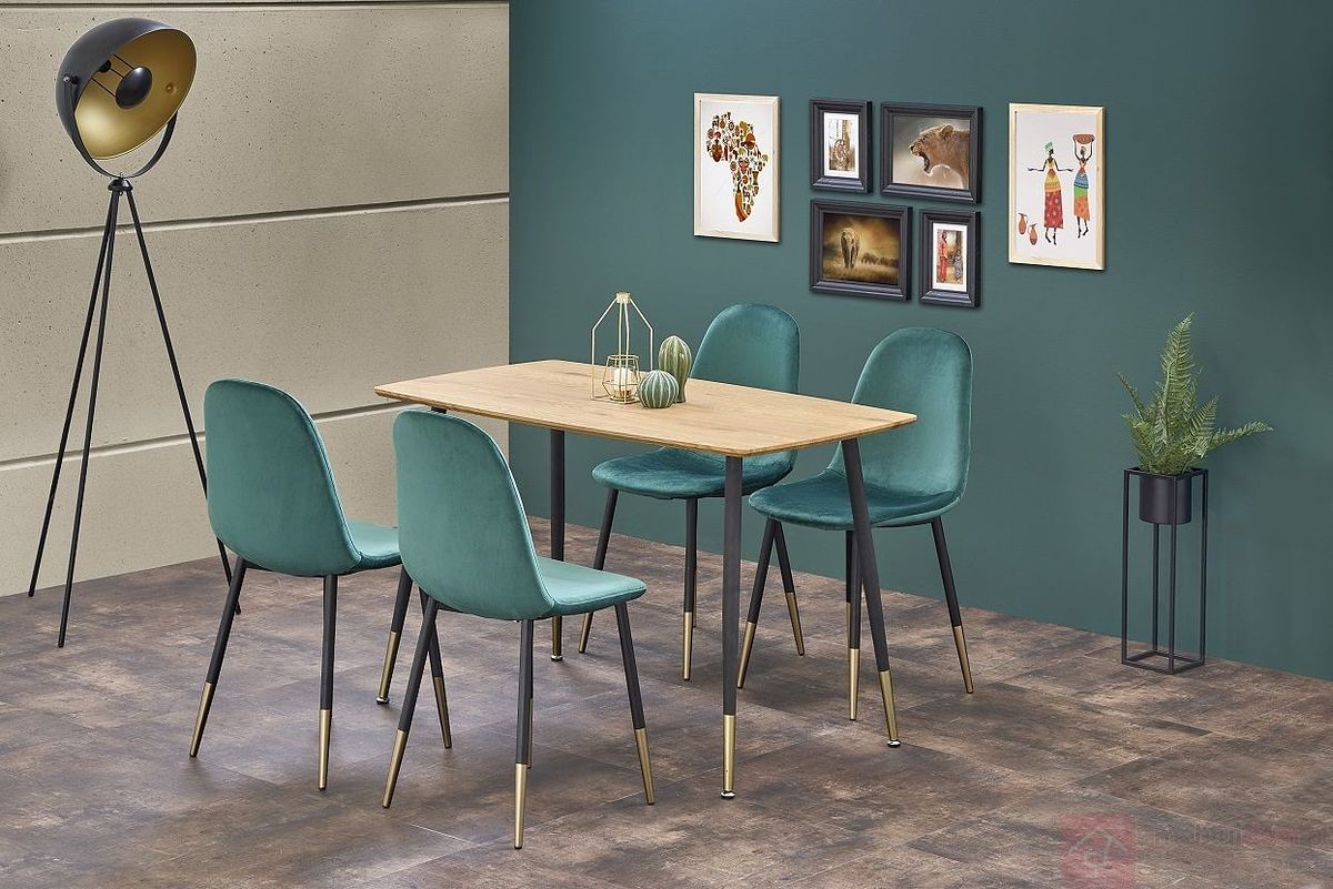 Stół TRIPOLIS Halmar aranżacja z krzesłami K379