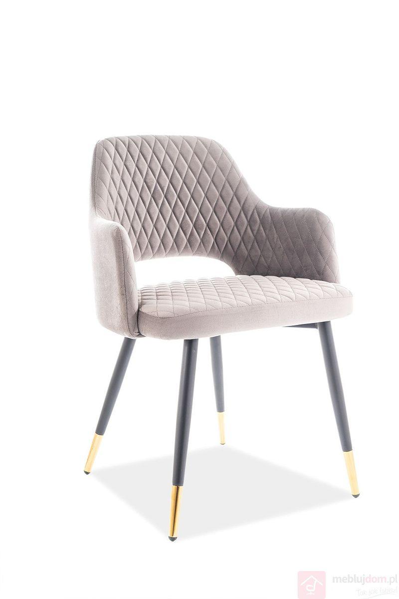 Krzesło FRANCO Velvet szary bluvel 14