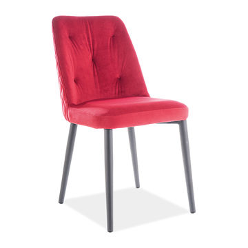 Krzesło DURAN VELVET Signal bordo 59