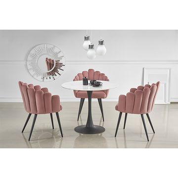 Stół AMBROSIO Halmar aranżacja z krzesłami K410