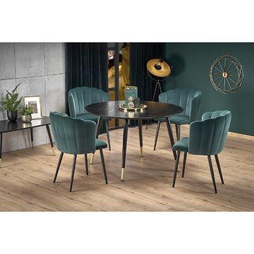 Stół EMBOS Halmar aranżacja z krzesłami K386