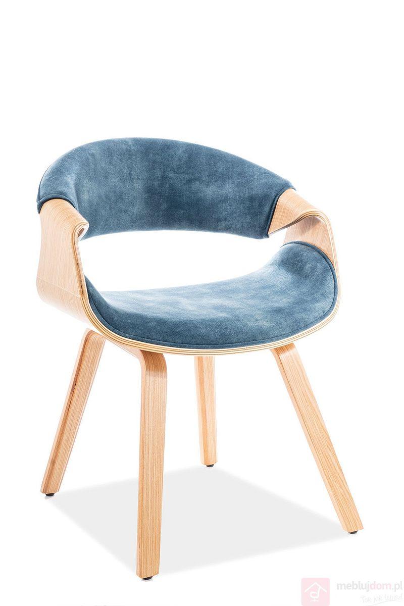 Krzesło DAKOTA VELVET Signal morski tap.169