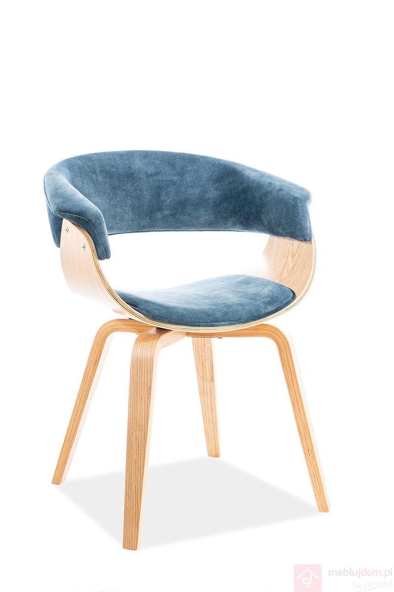 Krzesło INDIANA VELVET Signal morski tap.169
