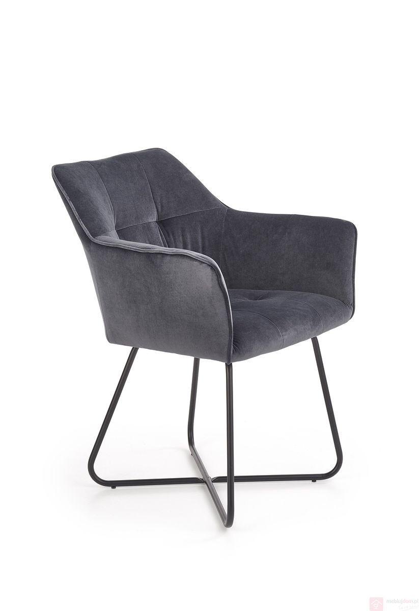 Krzesło K-377 Halmar ciemny szary
