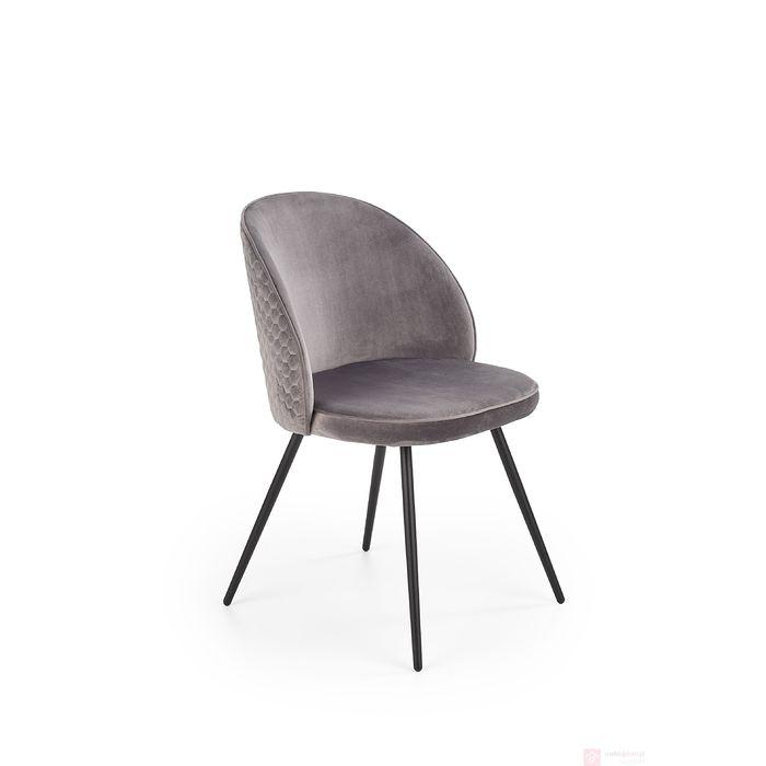 Krzesło K-395 Halmar popielaty